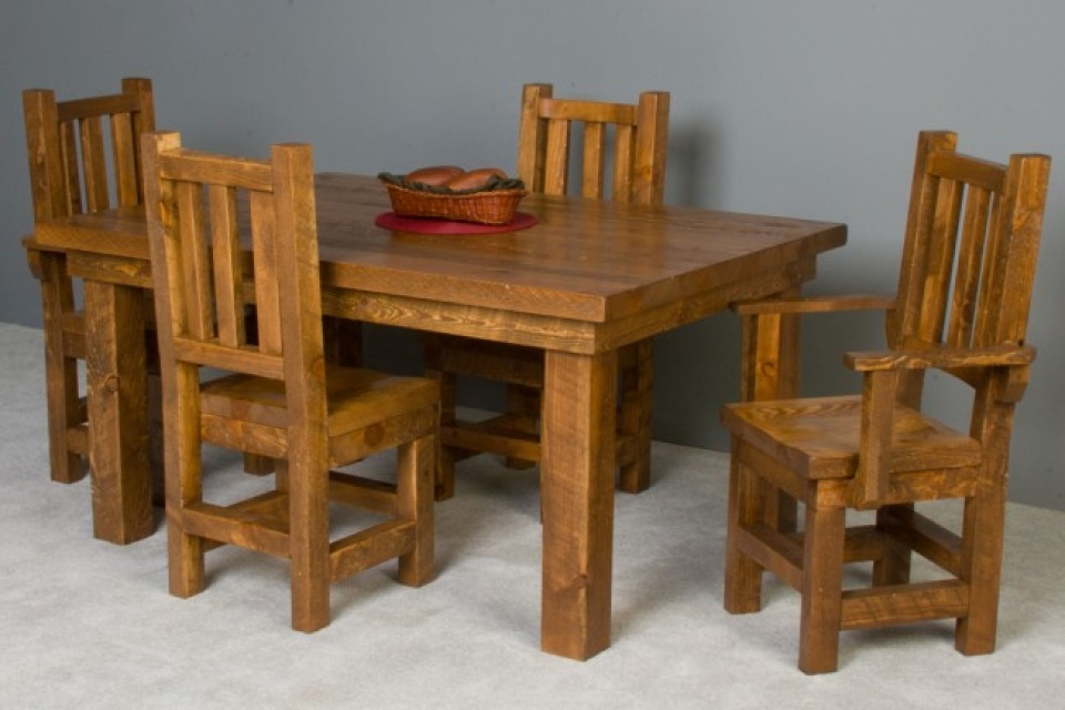 barn style dining room table