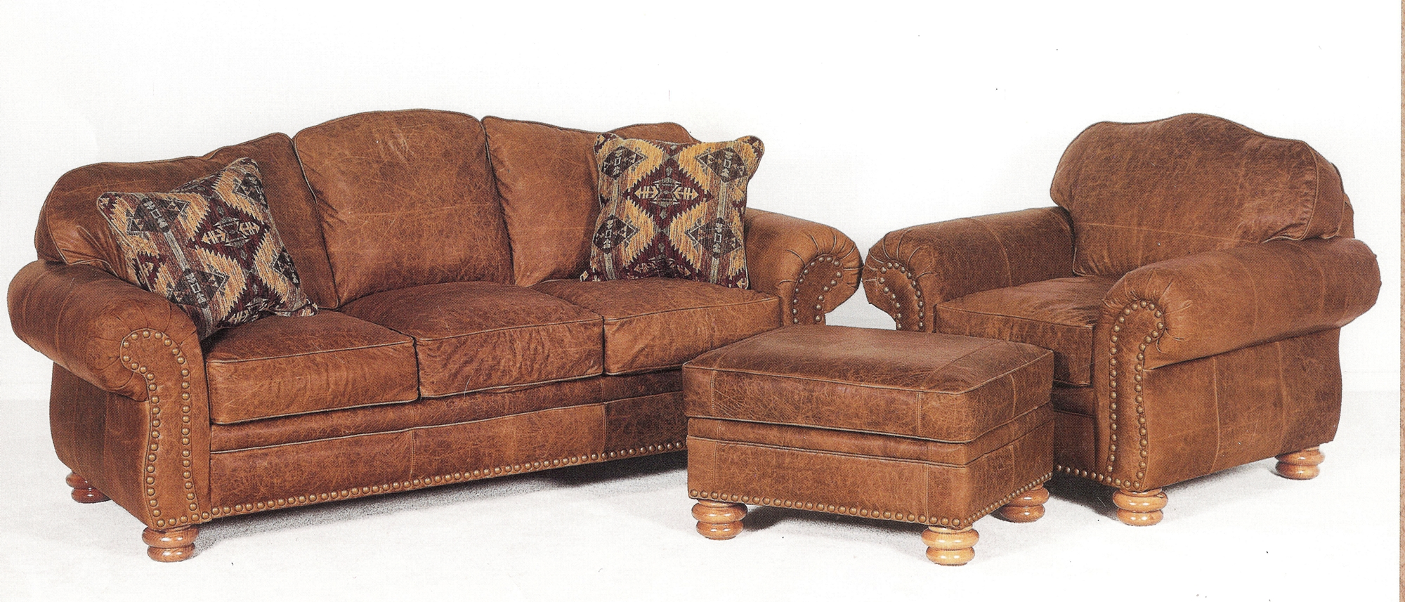 rustic leather sofa chair and ottoman loveseat also available