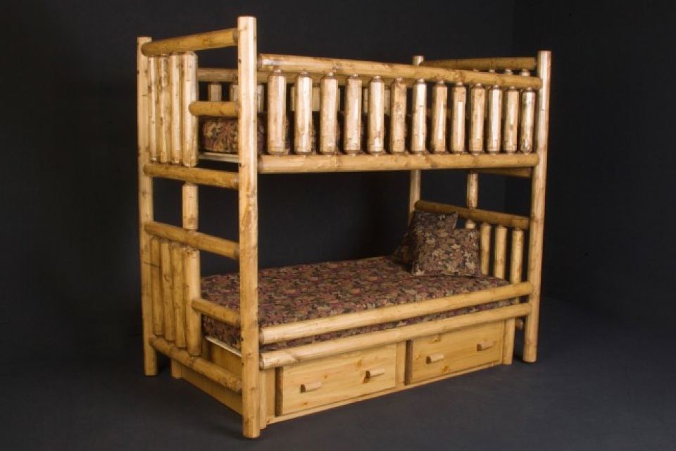 Pine Log Bunk Beds Available In Twin Twin Twin Xl Twin Xl Twin Full Twin Xl Queen Full Full