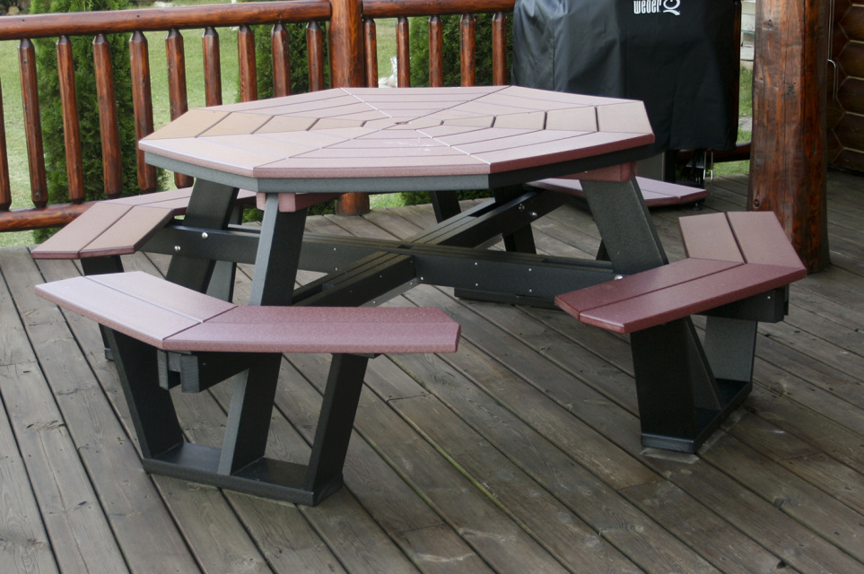 5 Poly Wood Octagon Picnic Table